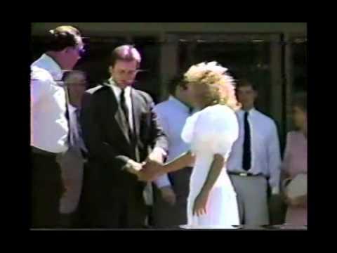 Chuck & Christopherson Families, Chuck & Jana Mesa Temple Wedding 1989 AZ CS93