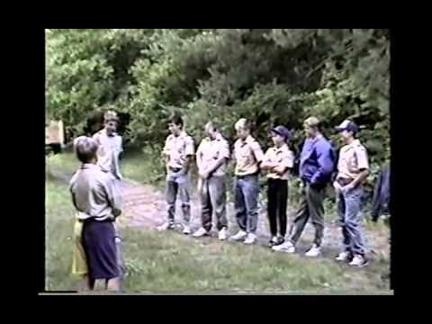 Kimball, Ben & Chuck Scout Camp, Ben as SPL Flag 1, D A 1991 MI CS85