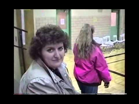 Cliff, Pat, Liz & Amanda After Ben's Basketball 1991 MI CS70
