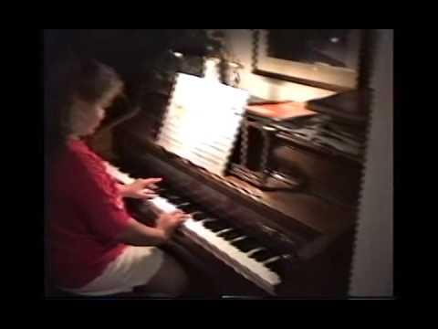 Liz Practices Piano June 1991 MI CS69
