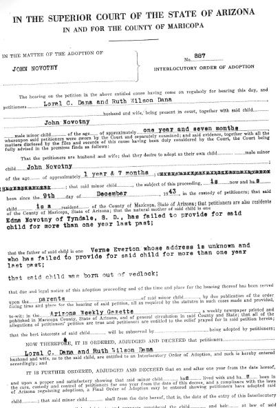 GWDana Adoption 2-10-1945