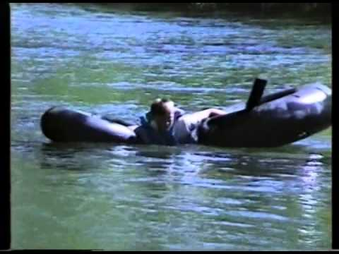 1991 Stratton Anniversary   Cliff J Kimball Ben Chuck R and Craig Tubing Down Provo River