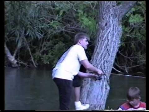1991 Stratton Anniversary   Joe Fishing in Camp