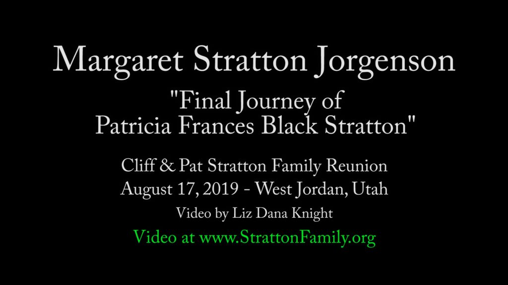 2019 Reunion Final Journey of Patricia Frances Black Stratton by Margaret (pdf)